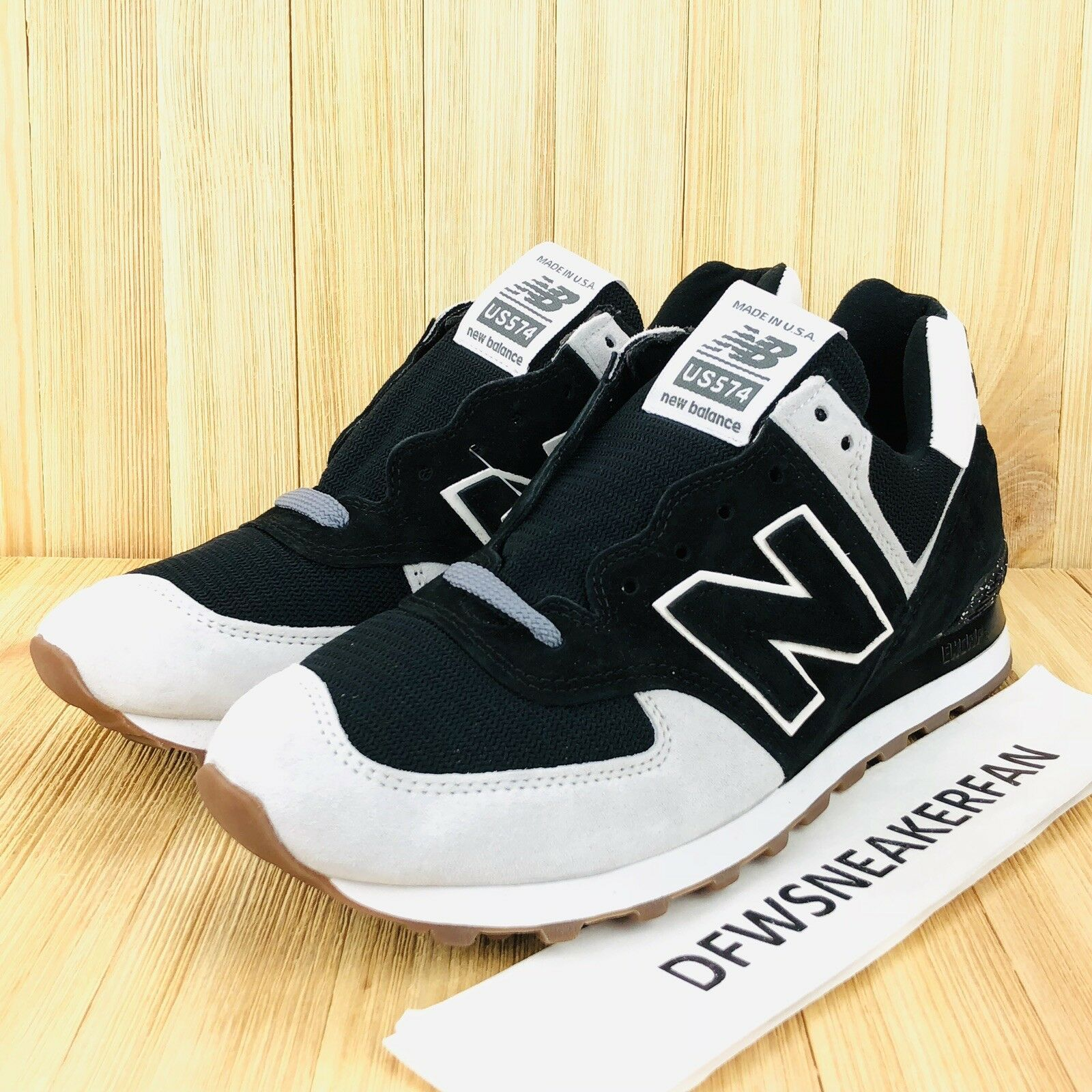 New Balance 574 Mens 8.5 Athletic shoes Suede Black US574CM2 MADE IN USA