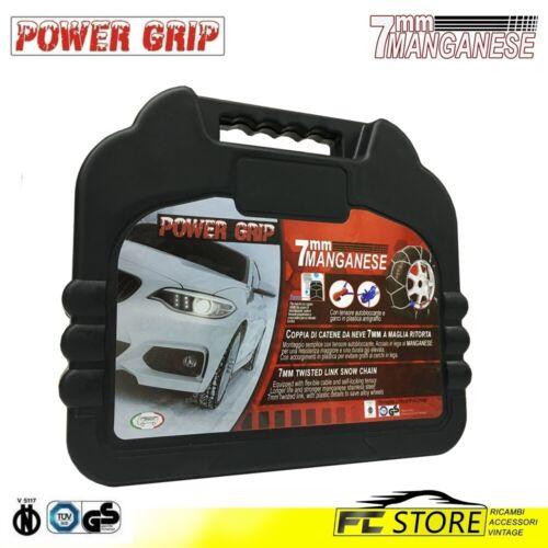 Catene da Neve Power Grip 7mm Omologate gruppo 60 pneumatici 195//45R16 07X060