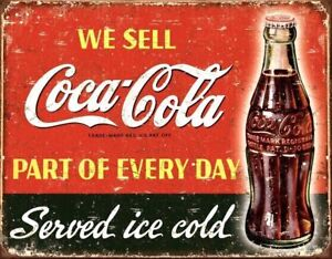 Metal-Vintage-COKE-COCA-COLA-American-Diner-Bar-Pub-Shed-Garage-Man-Cave-SIGN