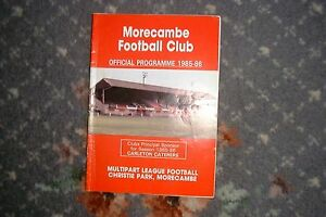 football-programme-Morecambe-v-Gainsborough-Trinity-1986