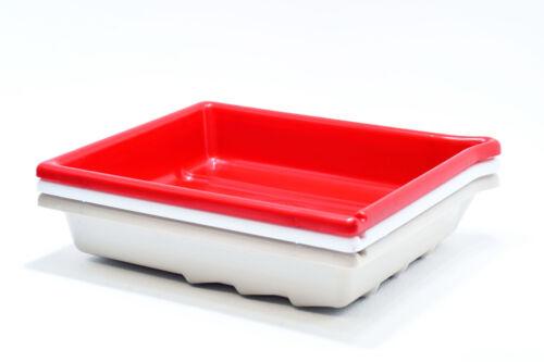 """Rojo//Blanco//Beige 13 x18cm Conjunto de 3 AP cuarto oscuro desarrollar PLATO 7x5/"""""""