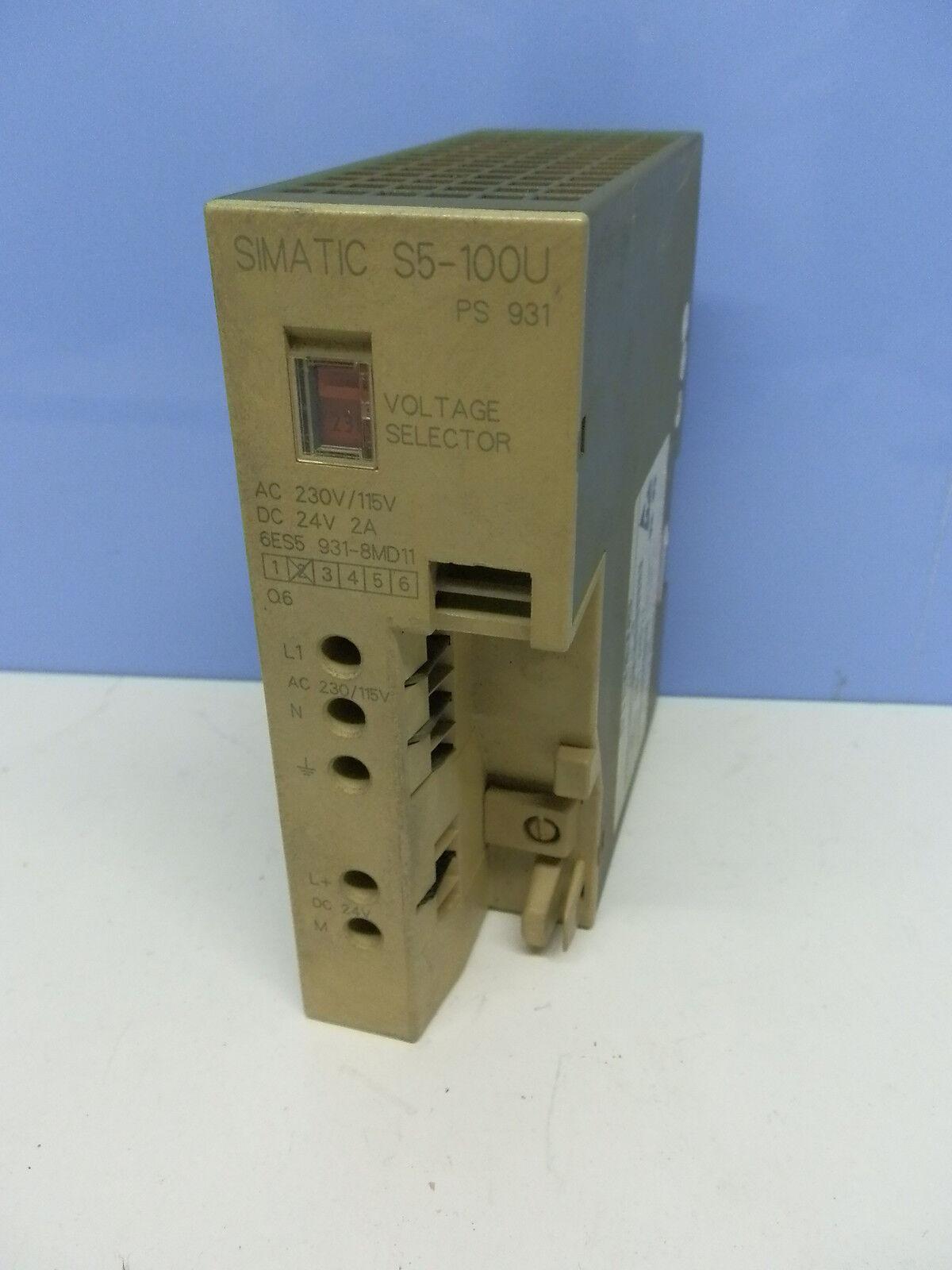 Siemens 6ES5 931-8MD11 Simatic S5 Stromversorgung Power Modul