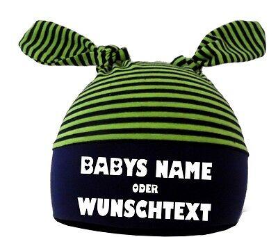 Costruttivo 2-estremità Baby Berretto A Strisce Con Il Tuo Desiderio Di Stampa-mostra Il Titolo Originale