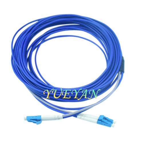 150M Armored Cable Fiber Patch Cord  LC to LC LC-LC SM  9//125 Duplex DHL Free