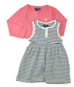 US Polo Assn Toddler Girls/' 2Pack Sleeveless Dress Set 2T 3T 4T