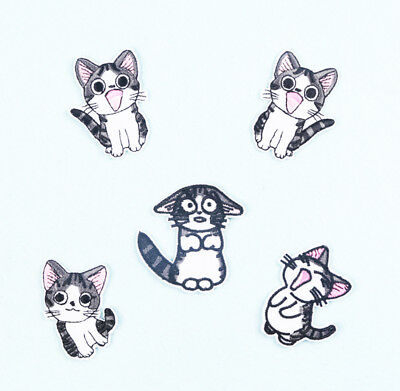 Cute Cat  Iron Sew On Patch Clothes Jacket Jeans Shirt Bag Embroidered Badge #3