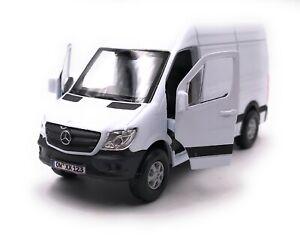 Mercedes-Benz-Sprinter-Furgone-Bianco-Modellino-Auto-con-Richiesta-Targa-1-3-4