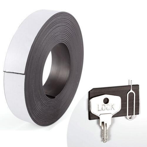 5 Meter 25mm Magnetband selbstklebend Magnetklebeband Magnetstreifen Magnet