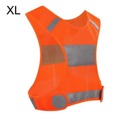 LED Reflective Safety Vest with Pockets Traffic Warning Outdoor Running Light ZH