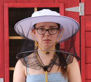 Imker Hut mit Schleier weiß Kordelzug gelb F Imkerbekleidung Imkerei Bienen