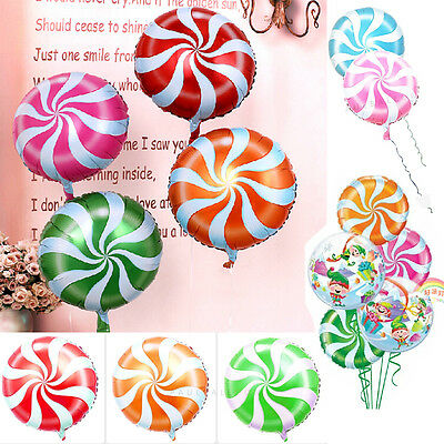 18 inch Lollipops Peppermint Candy Swirl Birthday Party Decoration Balloons
