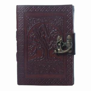 """Vintage Tree of Life Leather Journal Notebook Men Women Diary 7"""" X 10"""" 240 Pages"""