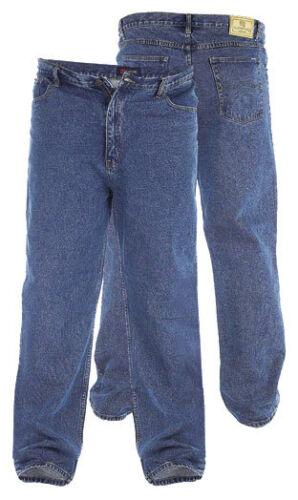 "Rockford Tamaño King Para Hombre Blue Jeans Stonewash Denim Comfort Fit 42/"" 60/"" RJ510"