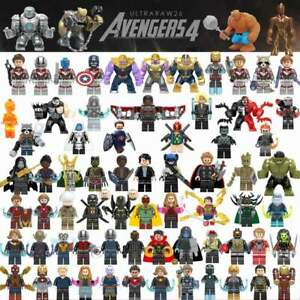 Avengers-4-Endgamer-Action-Figure-Black-Panther-Thanos-Hulk-Gamora-Building