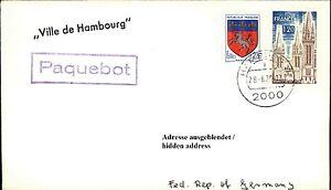 Schiffspost Schiff Stempel Paquebot Ville De Hambourg Brief