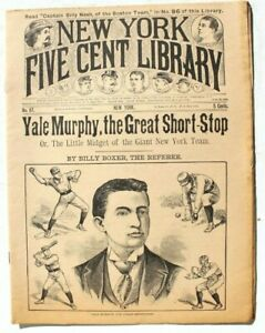 Vtg-New-York-Five-Cent-Library-Magazine-No-87-Yale-Murphy-The-Great-Short-Stop