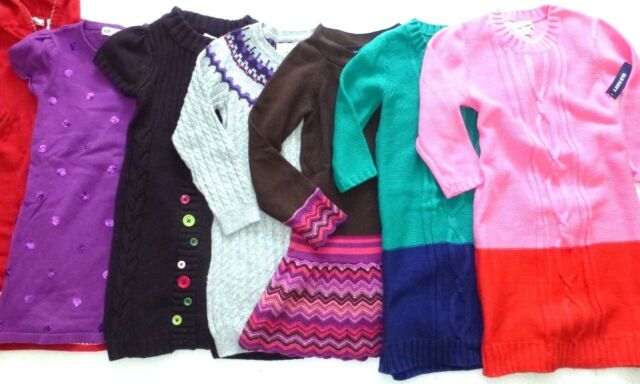 5a2744b1a13 GYMBOREE Girls NORDIC COLOR-BLOCK SEQUIN CABLE KNIT TUNIC SWEATER DRESS 6 7  8