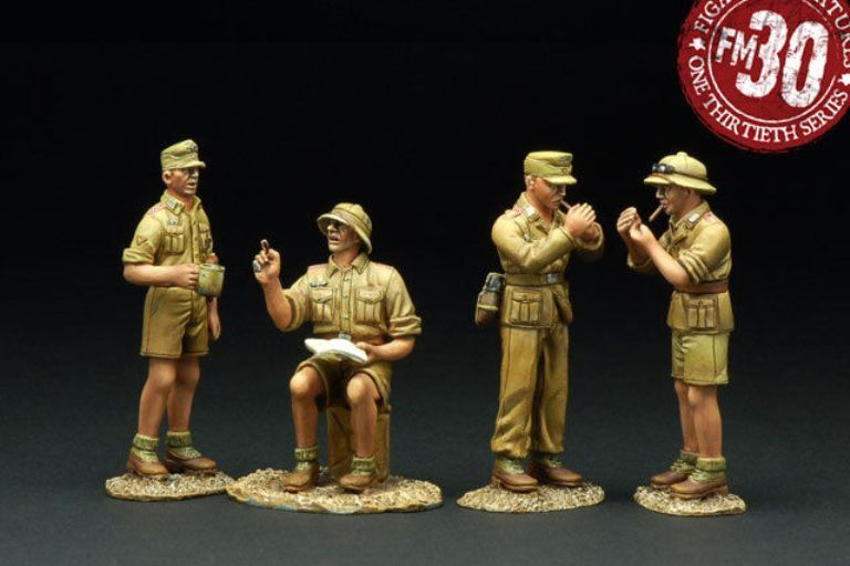 FIGARTI PEWTER WW2 GERMAN AFRIKA KORPS G4103A CAMP FIGURES MIB