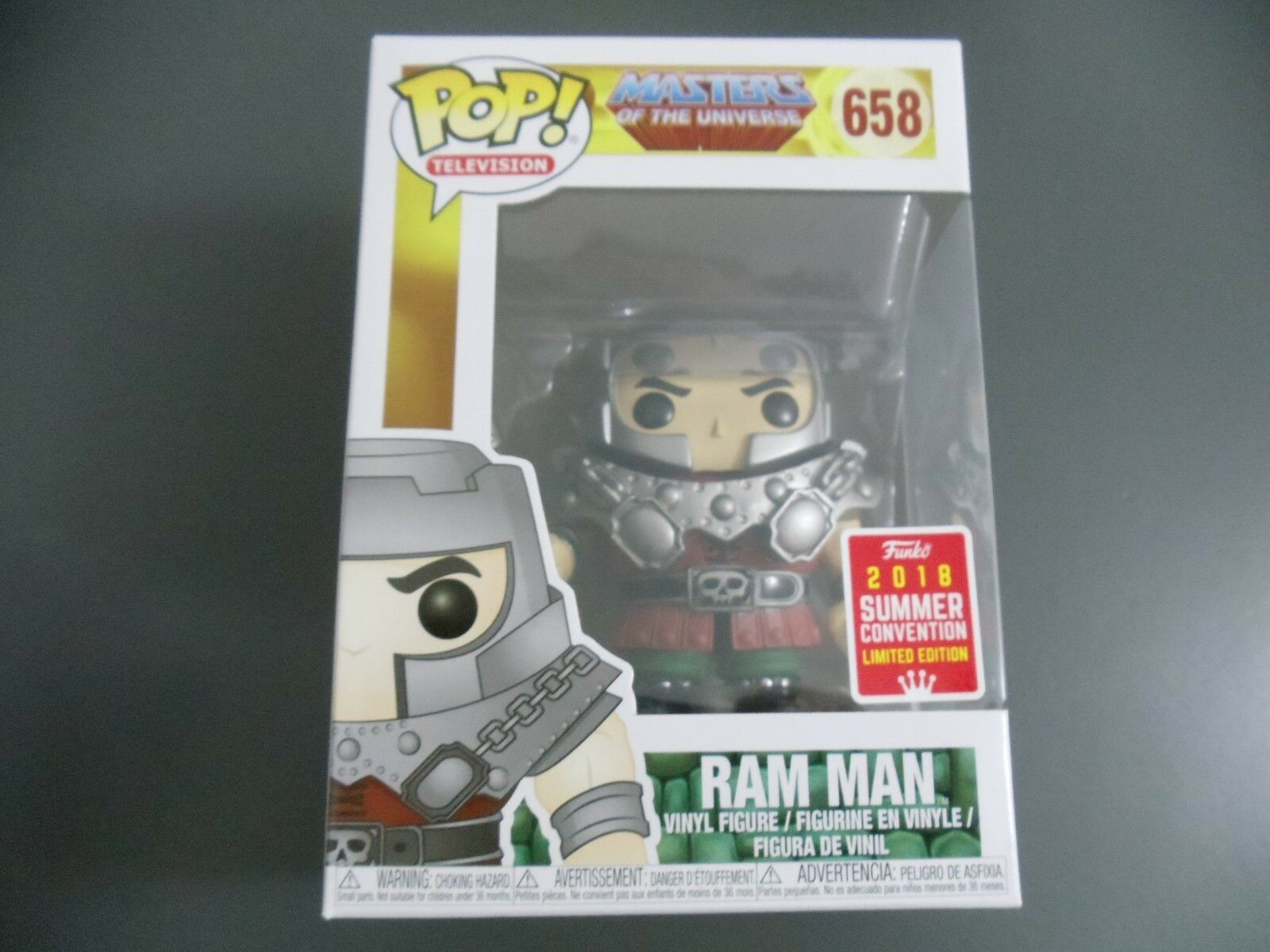 FUNKO POP RAM MAN SDCC 2018 EXCLUSIVE (Masters of the Universe)