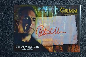 Breygent-Grimm-Season-1-TWAC-2-Titus-Welliver-RED-Autograph-Auto-Trading-Cards