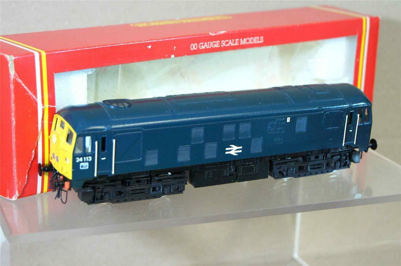HORNBY R877 KIT BUILT BR blueE CLASS 24 BO-BO DIESEL LOCO 24113 MINT BOXED mw