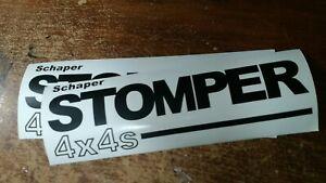 2-Black-10-034-Vinyl-Schaper-034-Stomper-4-X-4-034-Sticker-Decals