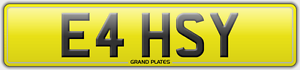 E4-HSY-EASY-REGISTRATION-NUMBER-PLATE-CAR-REG-ASSIGNED-FREE-NO-FEES-EASY-039-S-CHILL