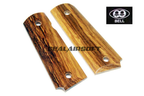 BELL Real Wood Pistol Grip Cover For 1911 GBB Airsoft Yellow Rosewood BELL-23Y
