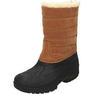 Groundwork Active Insulated Mucker Wellington Boots Tan Warm Thermal Shoes Ski