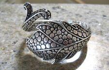 Vintage John Hardy Sterling Silver 925 Ayu Leaf & Vine Hinge Cuff Bracelet