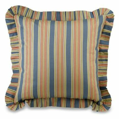 Wakefield Blue Stripe Euro Sham Colonial Williamsburg Red Striped Pillow Cover Home Garden Pillow Shams