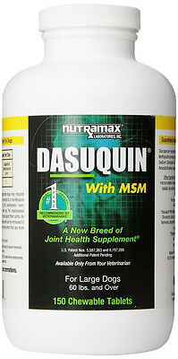 Dasuquin with MSM Glucosamine Chondrotin  Dogs over 60 lbs 150 Chewable Tabl.