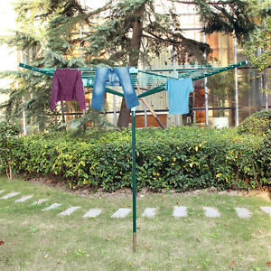 Stendibiancheria garden 40 50 metri per esterno alluminio - Stendibiancheria da giardino ad ombrello ...