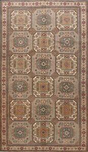 Vintage-Geometric-Anatolian-Turkish-Oriental-Area-Rug-Wool-Hand-knotted-6x10-ft