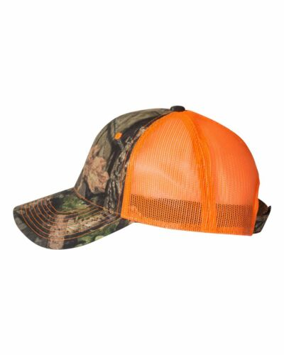 Outdoor Cap Camo Trucker Hat with Neon Mesh Back CNM100M Baseball Hat NEW