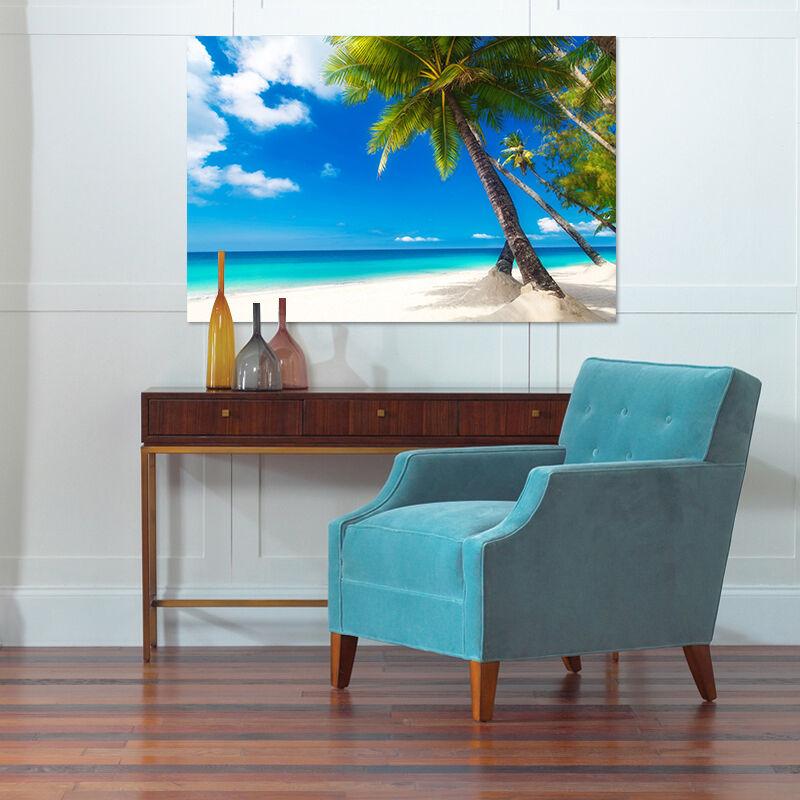 3D Blauer Himmel Palmen 423 Fototapeten Wandbild BildTapete AJSTORE DE Lemon