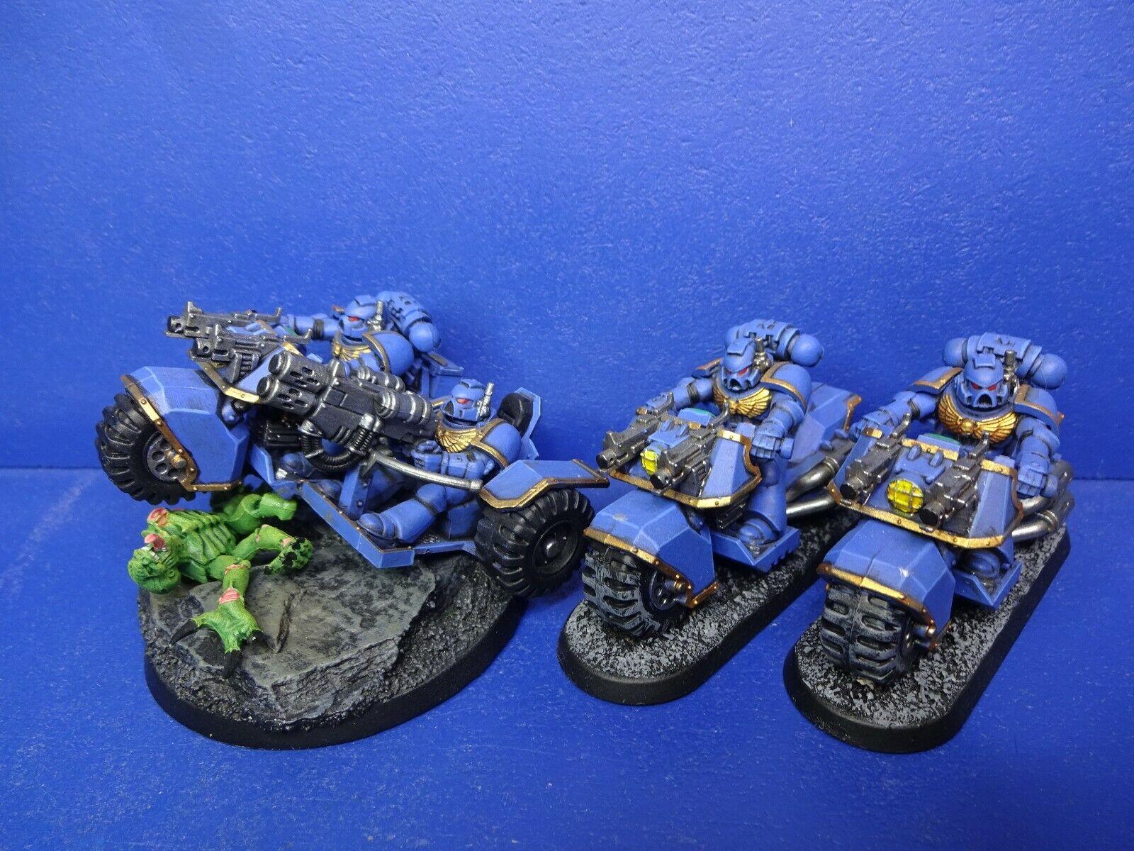 2  ULTRAMARINES BIKES + Trike della spazio Marine del dipinto bene  sconto online di vendita
