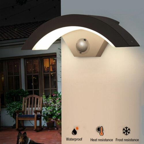 LED PIR Motion Sensor Wall Lights Outdoor Garden Lamp Waterproof Curve Lamp UK