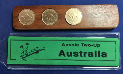 100th Birthday Gift Present Two-Up game set 1920 Australian Penny two up