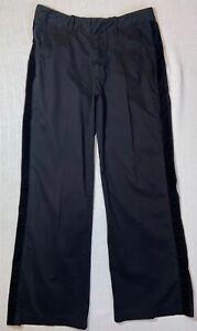 James-Perse-Mens-Black-Cotton-Blend-Velvet-Stripe-Trouser-Pant-32W-30In
