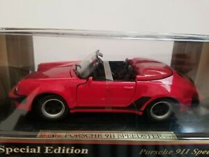 Maisto-Special-Edition-1989-Porsche-911-Speedster-Rojo-1-18-Diecast-Cast-46629
