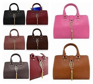 Image Is Loading Las Womens Designer Tote Handbag Faux Leather Gold