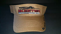 Authentic Skeeter Brown Visor Skeeter Boats Skeeter/eat.sleep.fish. Logo