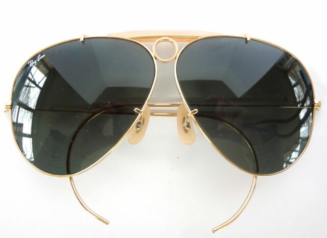 bec294dd67 VINTAGE B L RAY-BAN USA GP-ARISTA G15 SHOOTING SHOOTER AVIATOR SUNGLASSES  MINT
