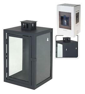 dunkelgrau metall glas wand laterne innen au en kerze teelicht laterne. Black Bedroom Furniture Sets. Home Design Ideas