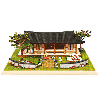 YM963 Diorama Series - Korean Traditional Tile-roof house Wooden Model Kit