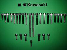 Kawasaki KH125 125ccm SS Edelstahl Motorabdeckung Allen Schraubensatz neu UK