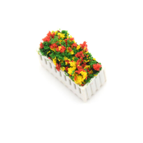 Flowers Bed Plants Miniature Landscape Fairy Garden Decors Dollhouse Accessories