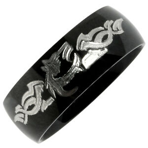 Image Is Loading Wolf Ring Tungsten Wedding Custom Engrave