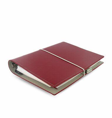 Filofax - A5 Domino Rosso - Liscio In Pelle Effetto Organiser Corrispondenza A Colori